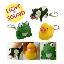 IGlow-Lot de 3 porte-clefs lumineux et sonores a LED