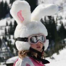Couvre casque de ski: Lapin des neiges