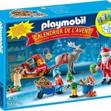 Calendrier de l'avent Playmobil Atelier de jouets avec Père Noël et lutins