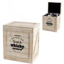 Caisse à bouteilles Scotch Whisky en bois