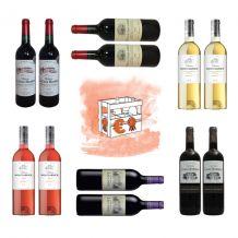 Lot de 12 bouteilles de Bordeaux – Super Affaire
