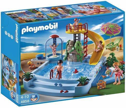 Jeu de construction Playmobil – Piscine avec toboggan