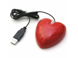 Souris USB en forme de coeur