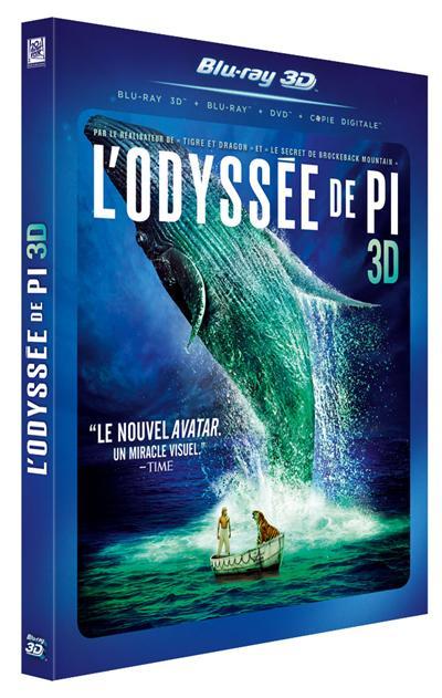 L'odyssée de Pi en version Blu-ray, Blu-ray 3D et DVD