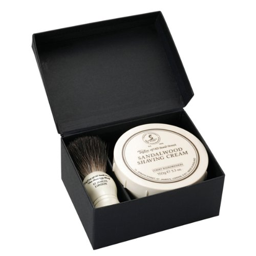 Set de rasage Taylor Of Old Bond Street – blaireau + crème