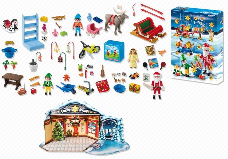 Calendrier de l 39 avent playmobil atelier de jouets avec p re no l et lutins id e cadeau france - Calendrier de l avent personnalise idee cadeau ...
