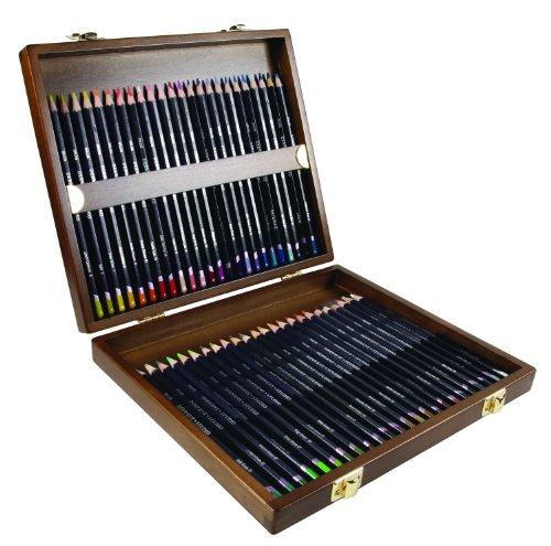 Coffret bois de 48 crayons de couleur