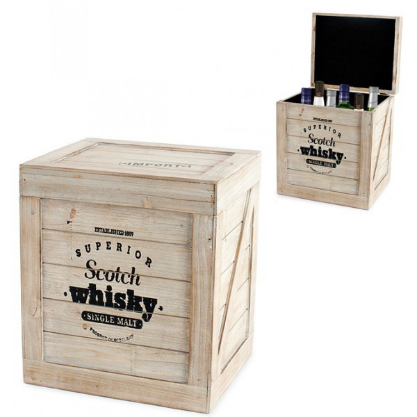 caisse bouteilles scotch whisky en bois id e cadeau france. Black Bedroom Furniture Sets. Home Design Ideas