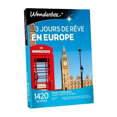 Coffret Wonderbox : 3 jours en Europe