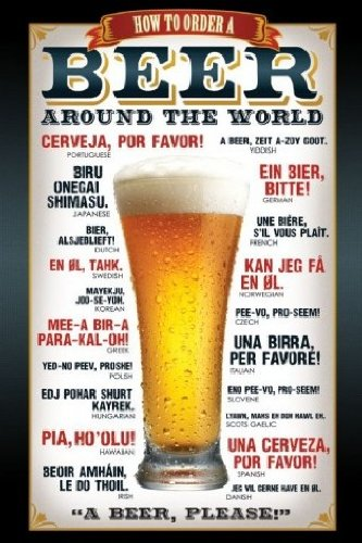 Poster : Comment commander une bière dans le monde entier