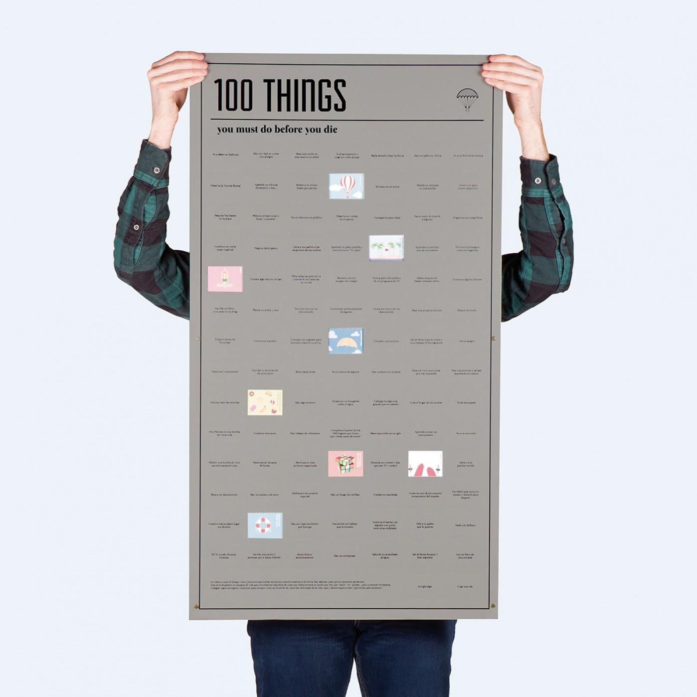Poster «100 choses que vous devez faire avant de mourir»