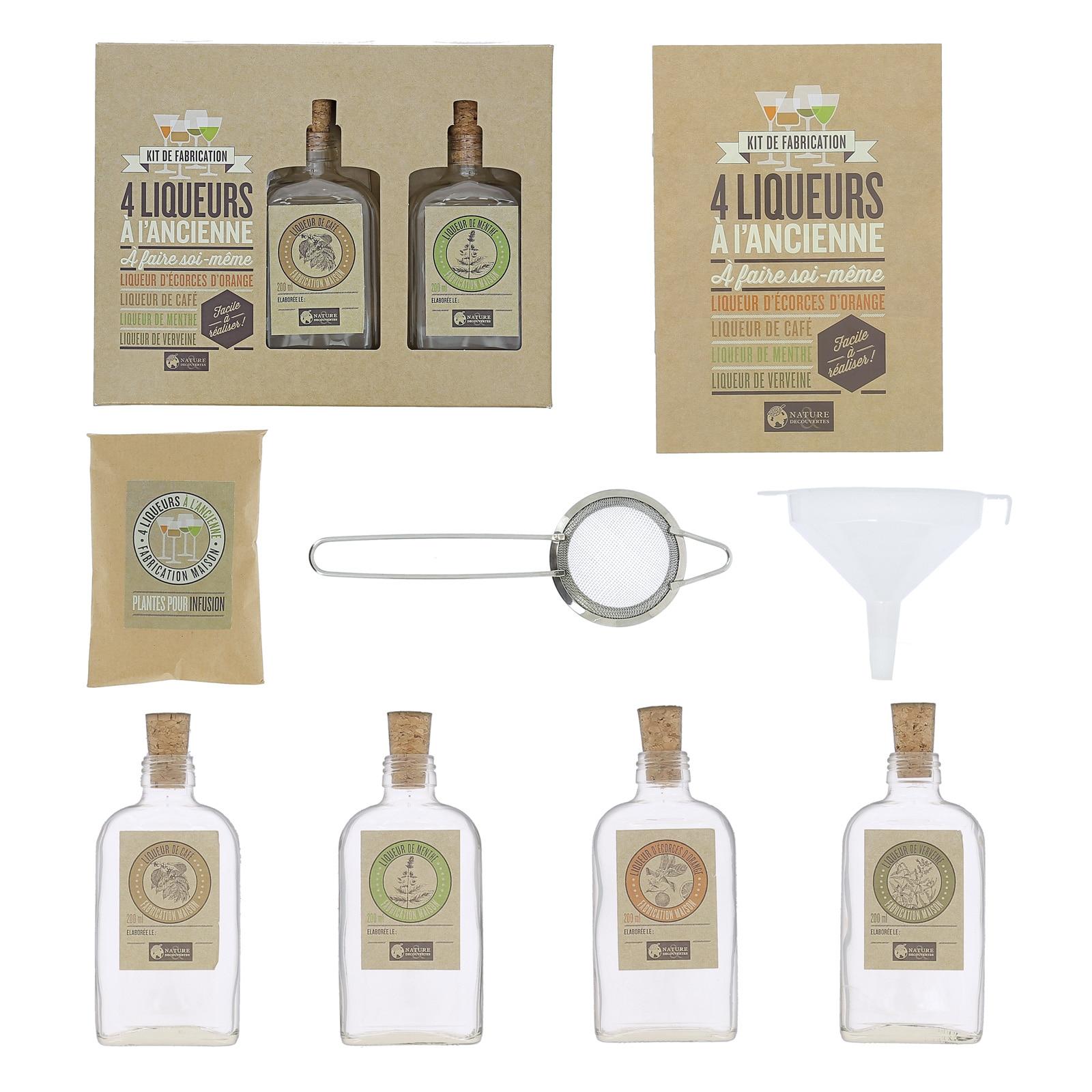 Fabrication de 4 liqueurs à l'ancienne