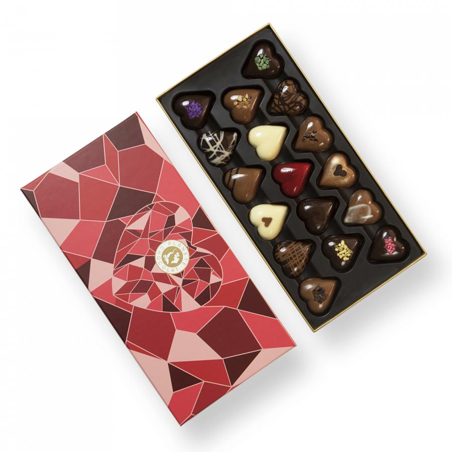 Boite de chocolats en coeur