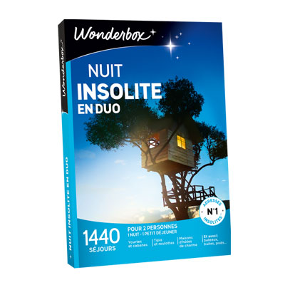 coffret cadeau nuit insolite wonderbox id e cadeau france. Black Bedroom Furniture Sets. Home Design Ideas
