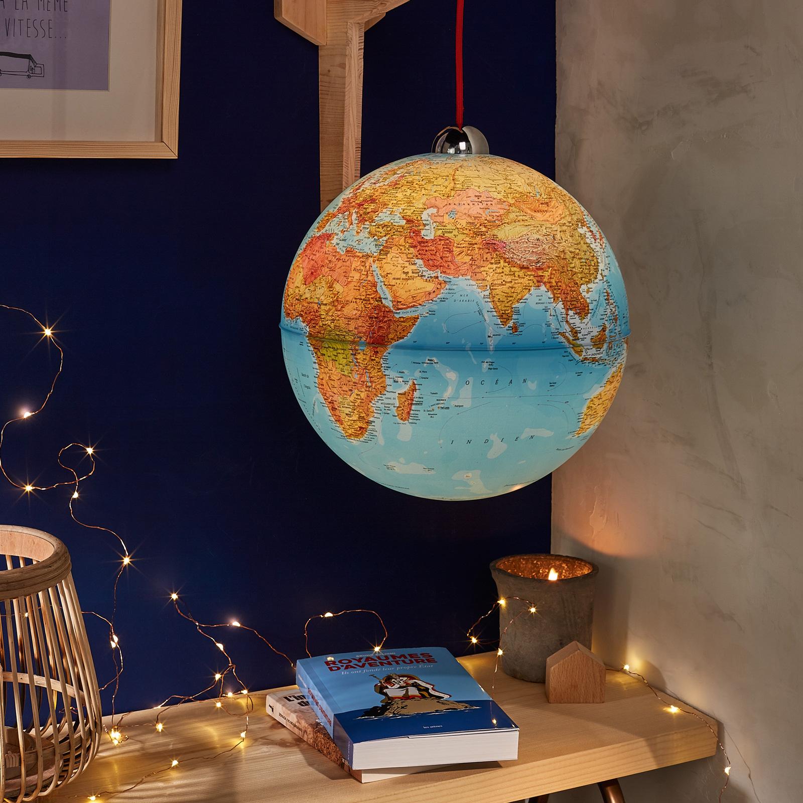 Globe lumineux suspendu