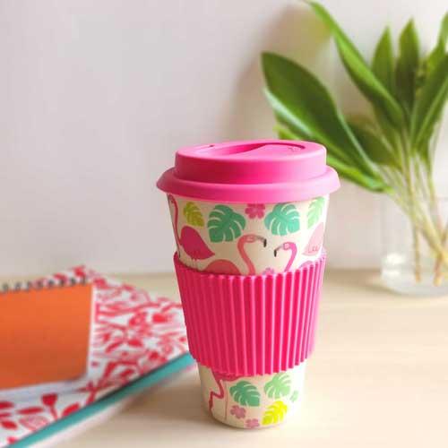 Mug voyage flamant rose